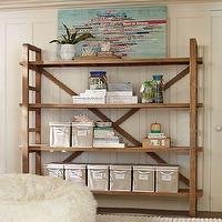 Storage Furniture - Toscana Bookcase | PBteen - reclaimed pine bookcase, pine bookcase, distressed pine bookcase,