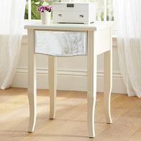 Storage Furniture - Mirror Bedside Table | PBteen - mirror fronted bedside table, mirror fronted nightstand with fluted legs, ivory mirror front nightstand,