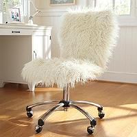 Seating - Furlicious Airgo Chair | PBteen - faux fur desk chair, furry desk chair, ivory faux fur desk chair,