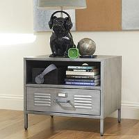 Storage Furniture - Locker Bedside Table | PBteen - locker bedside table, locker nightstand, galvanized locker nightstand, metal locker nightstand,