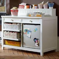 Storage Furniture - Beadboard Snack Bar Console + Hutch | PBteen - snack bar, snack console, storage bar,