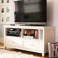 Storage Furniture - Beadboard Media Stand | PBteen - beadboard media stand, beadboard media console, white beadboard media stand,