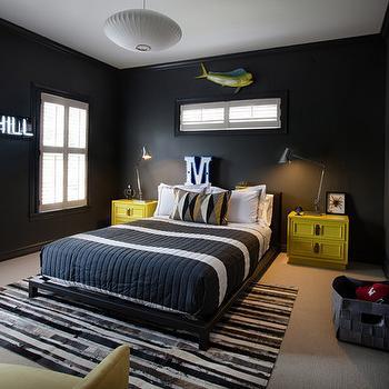 Black Platform Bed, Contemporary, boy's room, Sally Wheat Interiors