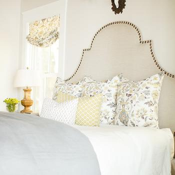 Yellow and Gray Bedding, Eclectic, bedroom, Caitlin Creer Interiors