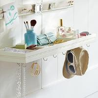 Art/Wall Decor - Wall To Wall Jewelry Shelf | PBteen - jewelry shelf, white jewelry shelf,