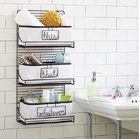 Bath - 3-Tier Wire Bath Shelf | PBteen - tiered wire bath shelf, wire shelving, wire bathroom shelves,
