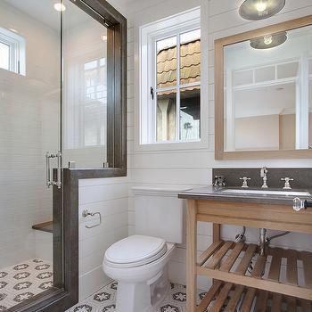 Brocade Mosaic Tile, Cottage, bathroom, Brandon Architects
