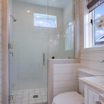 Brocade Mosaic Tile Cottage Bathroom Brandon Architects
