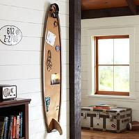 Art/Wall Decor - Surfboard Corkboard | PBteen - surfboard corkboard, surfboard shaped message board, surfboard memo board,