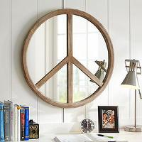 Mirrors - Peace Mirror | PBteen - peace sign mirror, peace mirror, wooden peace mirror,