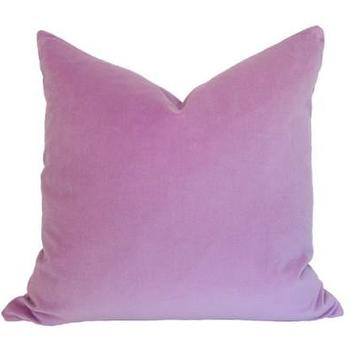 Pillows - Lavender Velvet Pillow I Ariannabelle.com - purple velvet pillow, lavender pillow, lavender velvet pillow,
