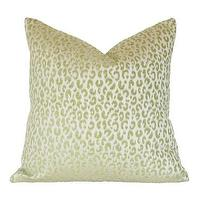Pillows - Green Leopard Pillow I Ariannabelle.com - green leopard print pillow, green leopard pillow, leopard print pillow,