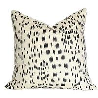 Pillows - Les Touches Black Pillow I Ariannabelle.com - black and white pillow cover, black and white abstract pillow, black and ivory pillow,