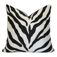 Pillows - Zebra Pillow I Ariannabelle.com - zebra pillow, zebra print pillow, animal print pillow,
