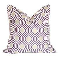 Pillows - Hexagon Purple and Gold Pillow I Ariannabelle.com - purple and gold hex pillow, purple and gold hexagon pillow, purple and gold geometric pillow,