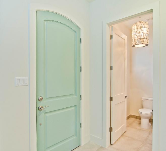 mint green door contemporary bathroom bay hill design
