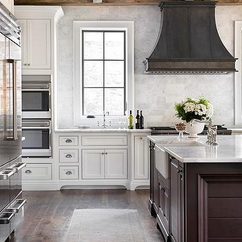 Zinc Kitchen Hood, Transitional, kitchen, L. Kae Interiors