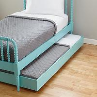 Beds/Headboards - Light Blue Storage Trundle | The Land of Nod - storage trundle, aqua blue storage trundle, under the bed storage trundle,