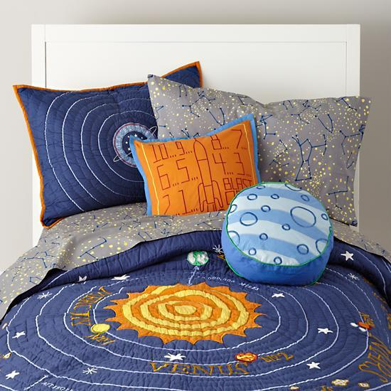 Solar System Bedroom : Solar System Bedding  The Land of Nod - solar system kids bedding ...
