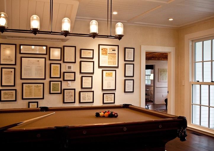 Pool room traditional media room marcia tucker interiors for Pool table room ideas