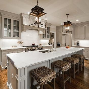 Kitchen Cabinets Painted Gray, Cottage, kitchen, Valspar Montpelier Ashlar Gray, Andrew Roby General Contractors