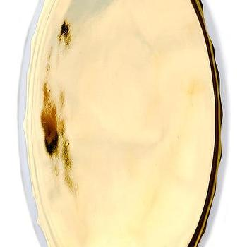 Decor/Accessories - Gold Glazed Porcelain Platter | LEIF - gold glazed porcelain platter, gold platter, gold oval shaped platter,