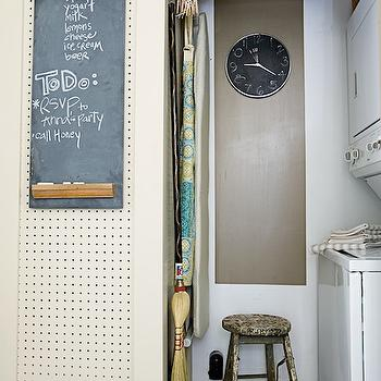 Compact Laundry Room, Cottage, laundry room, Farrow & Ball Lime White, Urban Grace Interiors