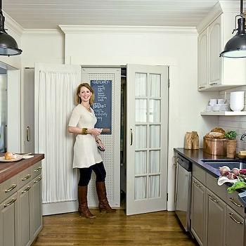 Galley Kitchen, Cottage, kitchen, Farrow & Ball Lime White, Urban Grace Interiors