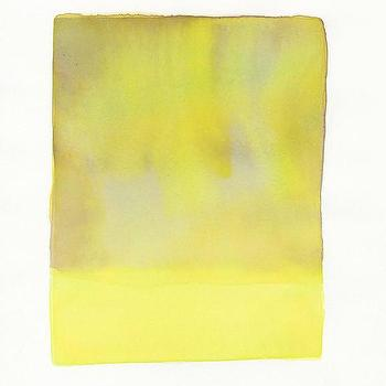 Art/Wall Decor - Yellow Falls | LEIF - yellow watercolor, yellow art, yellow abstract art,