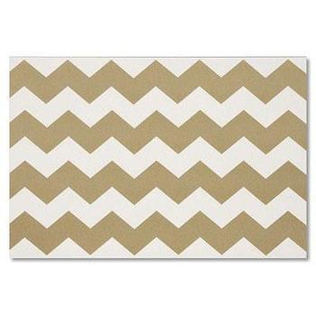 Decor/Accessories - Gold Chevron Paper Placemats | Waiting On Martha - gold and white chervon paper placemats, gold chevron paper placements,