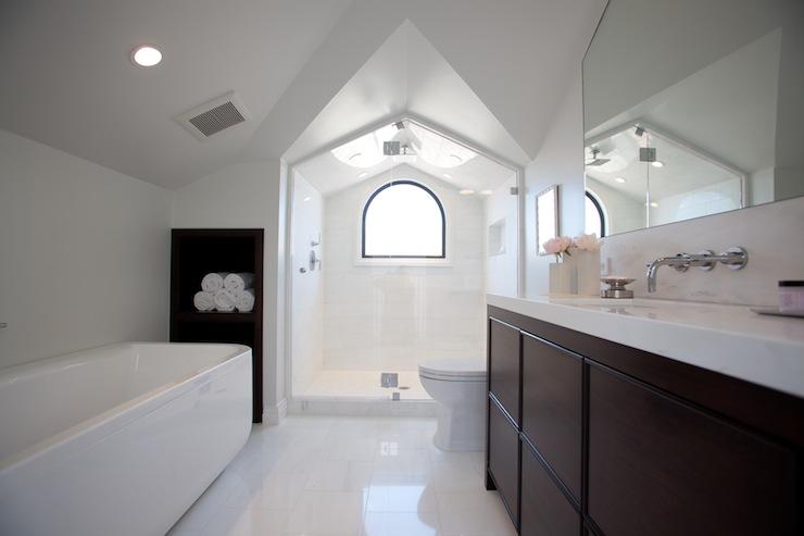 Attic bathroom contemporary bathroom marsh and clark for Master bathroom vaulted ceiling