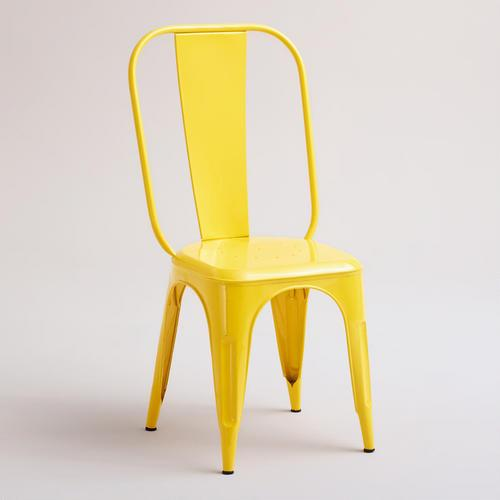 Yellow Cargo Stacking Chair Set Of 2 World Market