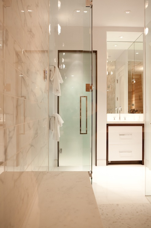 Frosted glass water closet door contemporary bathroom - Bathroom vanity with frosted glass doors ...