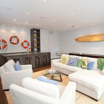 Beach Themed Family Room, basement, Marsh and Clark