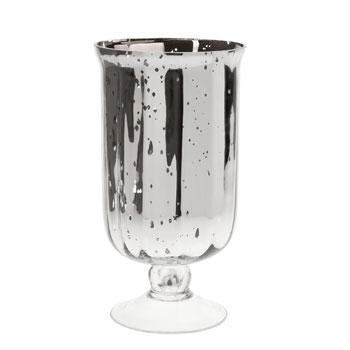 Decor/Accessories - Mantua Vase I Zara Home - silver vase, silver pedestal vase, cylindrical silver glass vase,