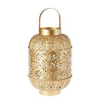Decor/Accessories - Golden Metal Lantern I Zara Home - golden metal lantern, openwork metal lantern, gold openwork lantern,