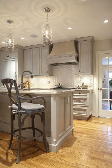 kitchen, gray cabinets, gray kitchen cabinets, gray kitchen island