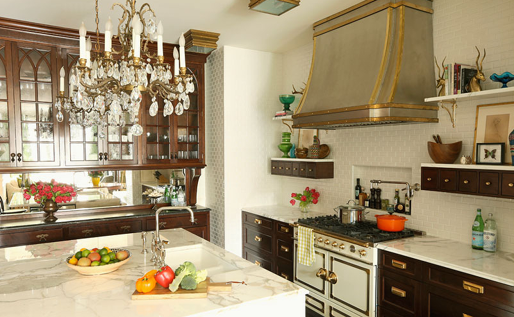 French kitchen hood transitional kitchen summer for Summer thornton design