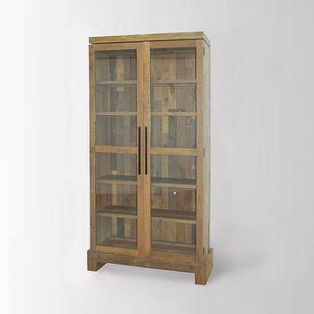 Storage Furniture - Emmerson Display Cabinet | west elm - reclaimed pine cabinet, reclaimed pine display cabinet, reclaimed pine glass fronted display cabinet,