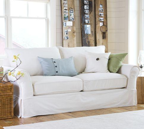 Seating - PB Comfort Slipcovered Sofa | Pottery Barn - slipcovered sofa, white slipcovered sofa,
