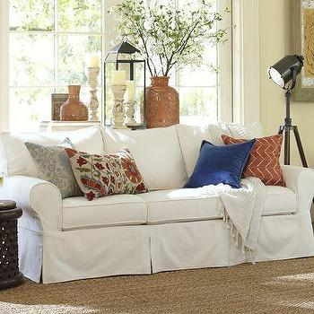 Seating - PB Basic Sofa | Pottery Barn - slipcovered sofa, white slipcovered sofa,