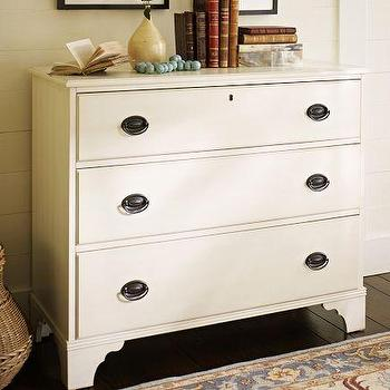 Storage Furniture - Lilian Dresser | Pottery Barn - white three drawer dresser, scalloped apron dresser, white scalloped apron dresser,