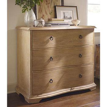 Storage Furniture - Curve Front Dresser | Pottery Barn - curved front dresser, poplar three drawer dresser, three drawer curve front dresser,