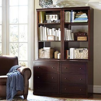 Storage Furniture - Logan Modular Bookcase with Drawers | Pottery Barn - modular bookcase, modular bookcase with drawers,