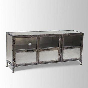 Antique Finish Iron Element Media Chest, west elm