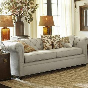 Seating - Chesterfield Grand Sofa | Pottery Barn - chesterfield sofa, tufted gray sofa, button tufted gray sofa,