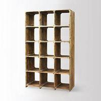 Storage Furniture - Reclaimed Pine Bookcase | west elm - reclaimed pine bookcase, pine bookcase, bleached pine bookcase,