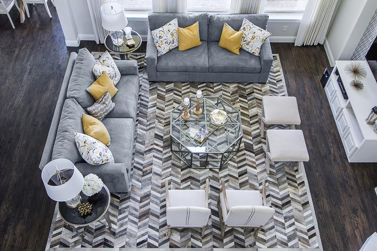gray and yellow living room contemporary living room ej