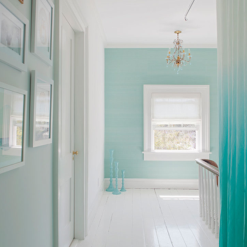 Turquoise Hallway Country Entrance Foyer Peter