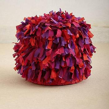 Seating - Tufted Pouf I Anthropologie.com - tufted pouf, red and purple tufted pouf,